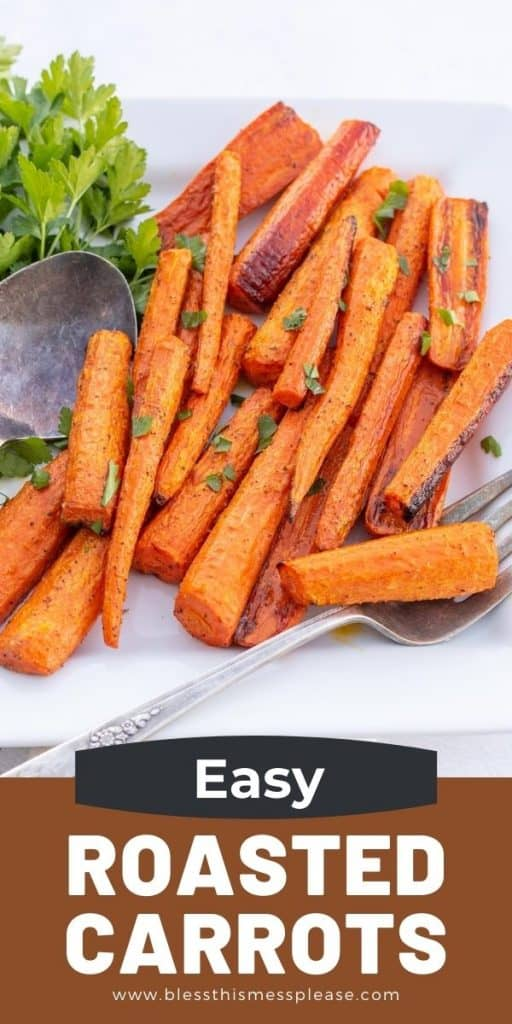 roasted carrots pin