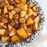 bowl of diced roasted potatoes