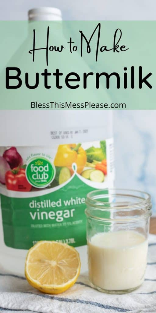 """ingredients for buttermilk with the words """"how to make buttermilk"""" written at the top"""