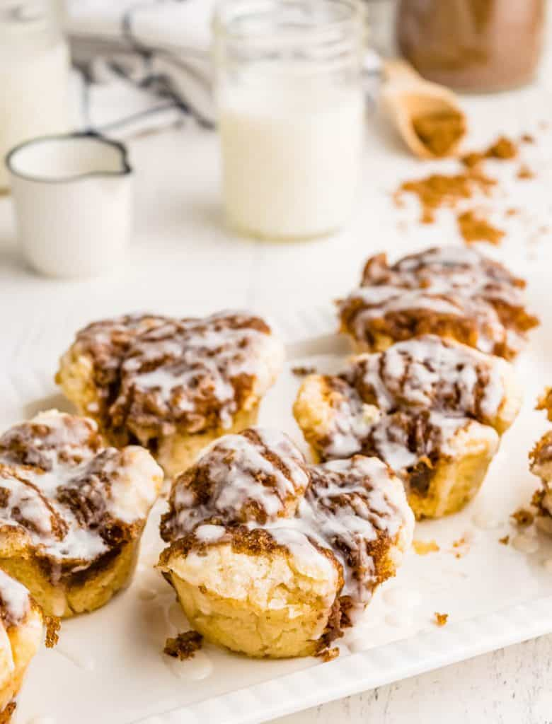 monkey bread muffins on a tray