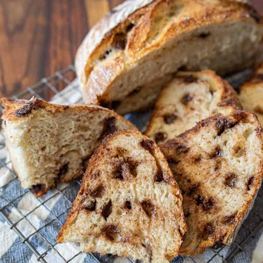 Chocolate Chip Sourdough Bread