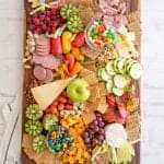 top view of a cheese board