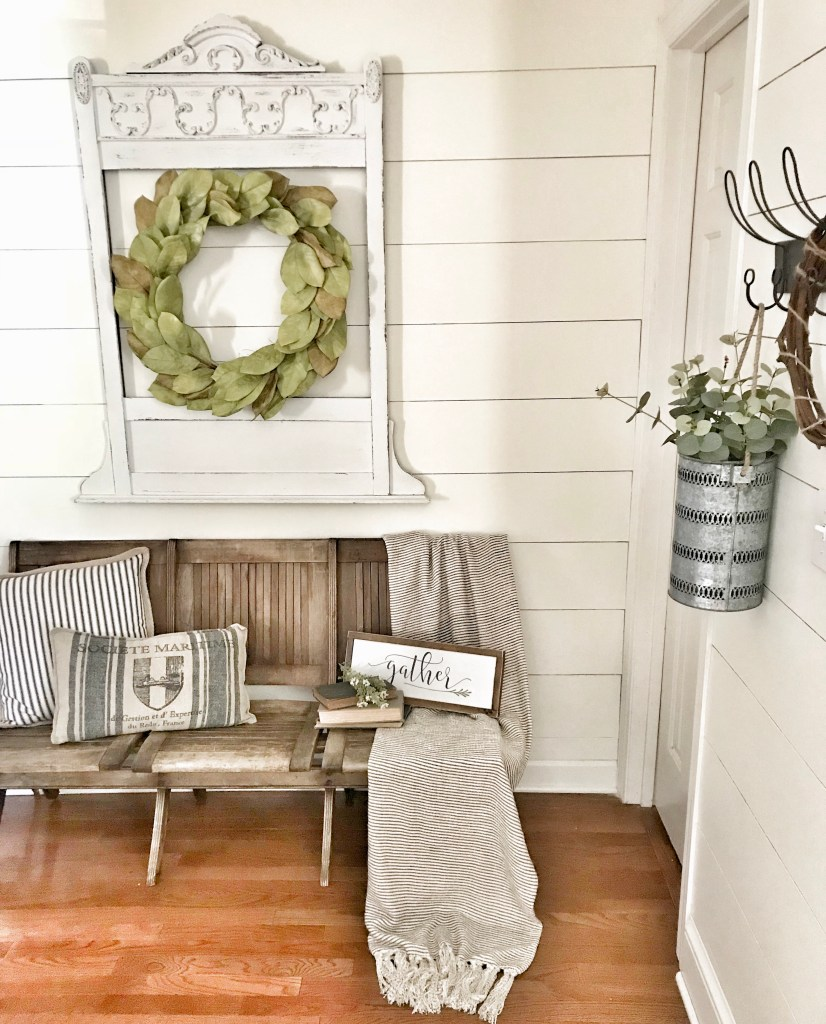 My Weekend Flea Market Find- Vintage Church Pew | Bless This Nest