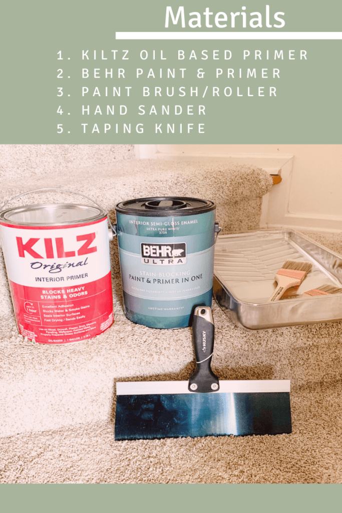 materials list and paint cans