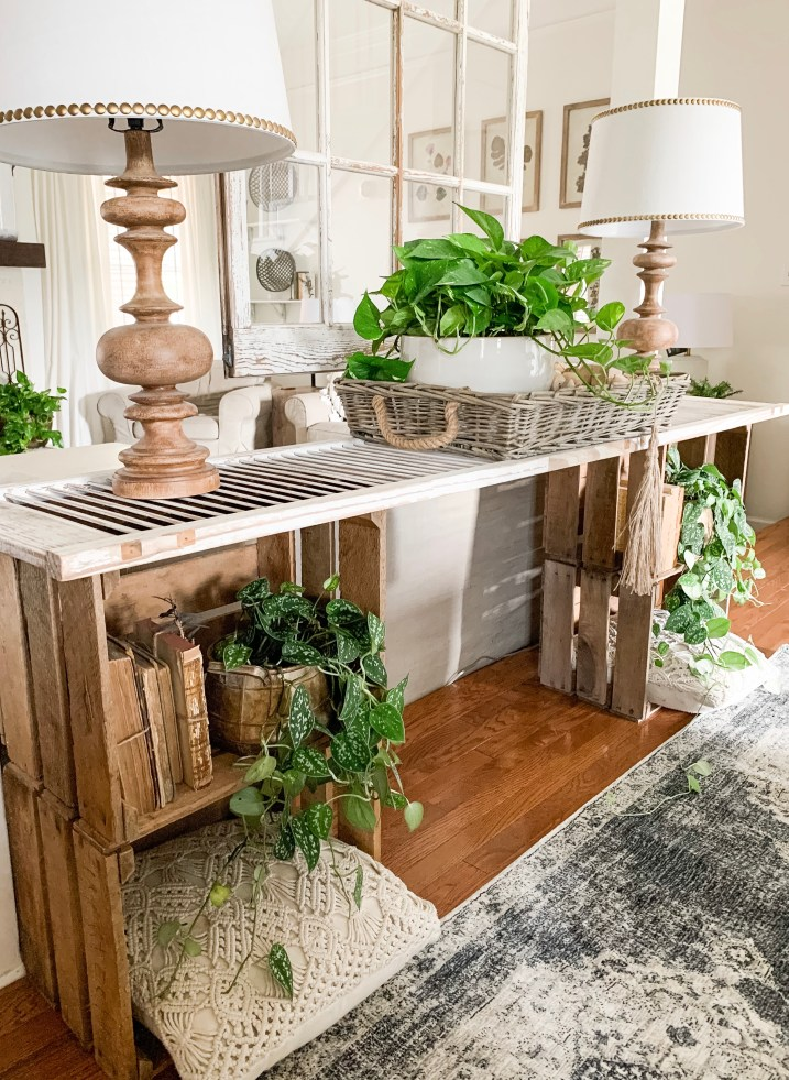 shutter and crate table