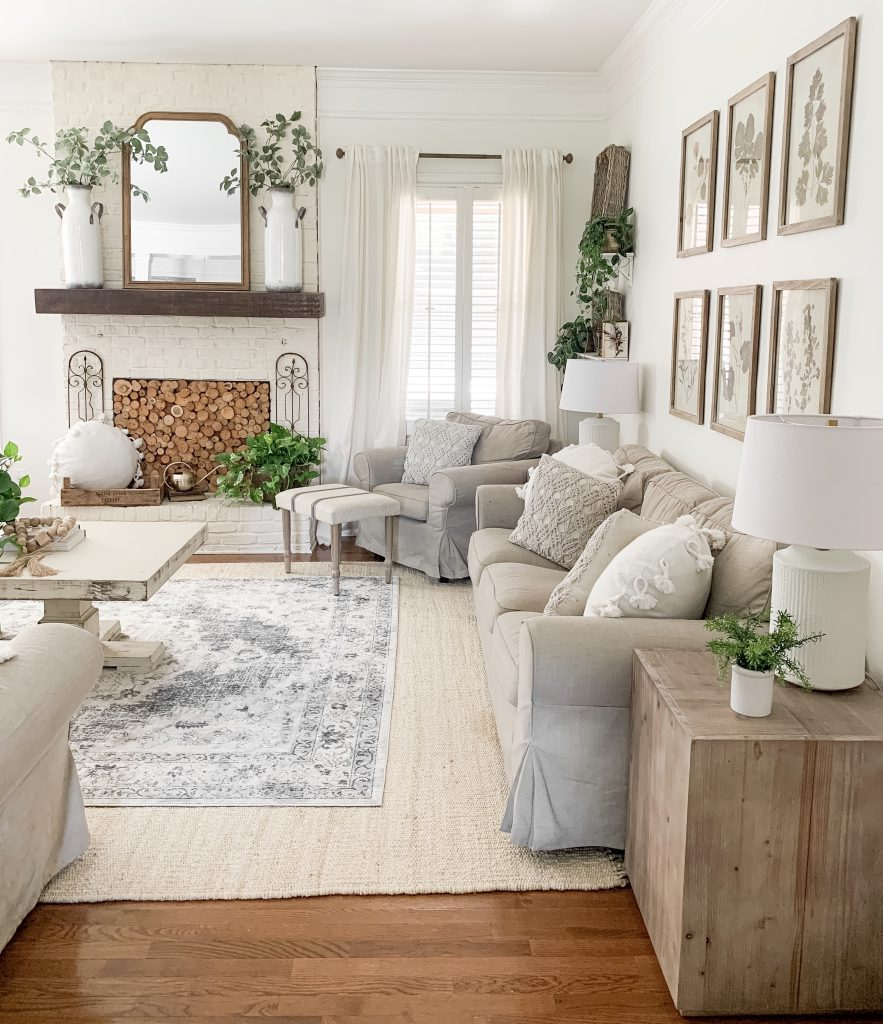 layered rugs in living room