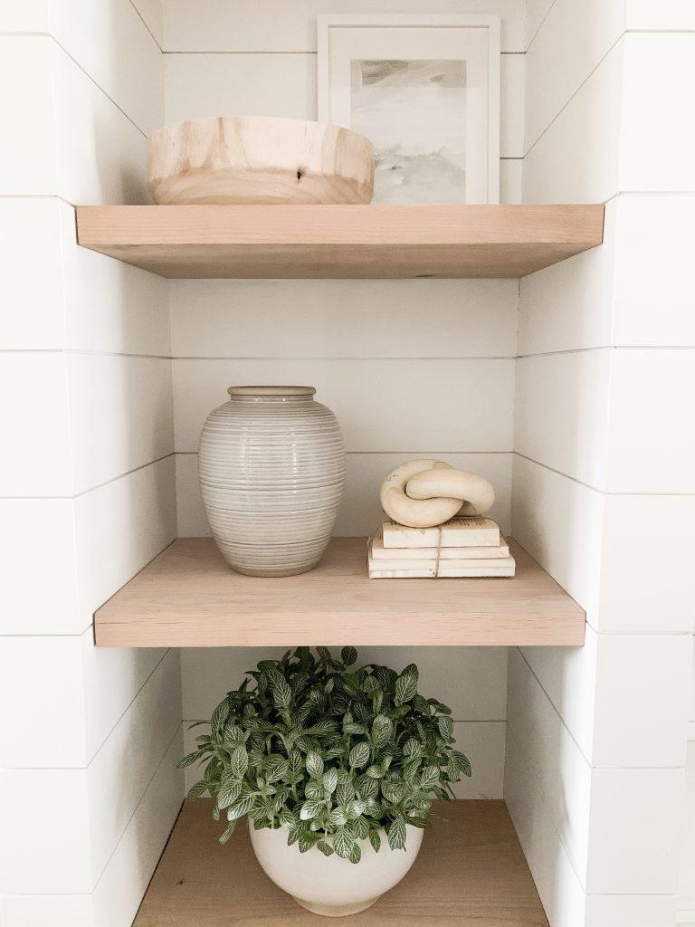 close up of shelfs and decor