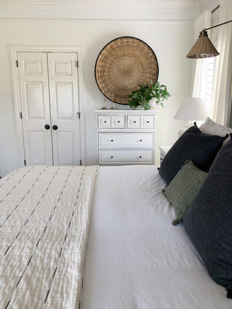 double doors in bedroom before picture
