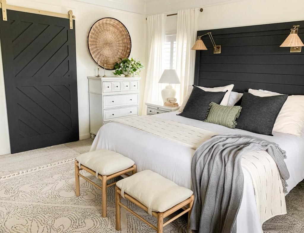 master bedroom sliding barn door