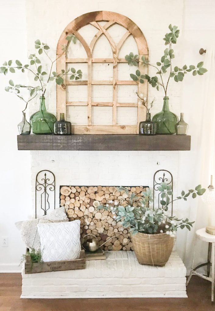 mantel decor, spring refresh