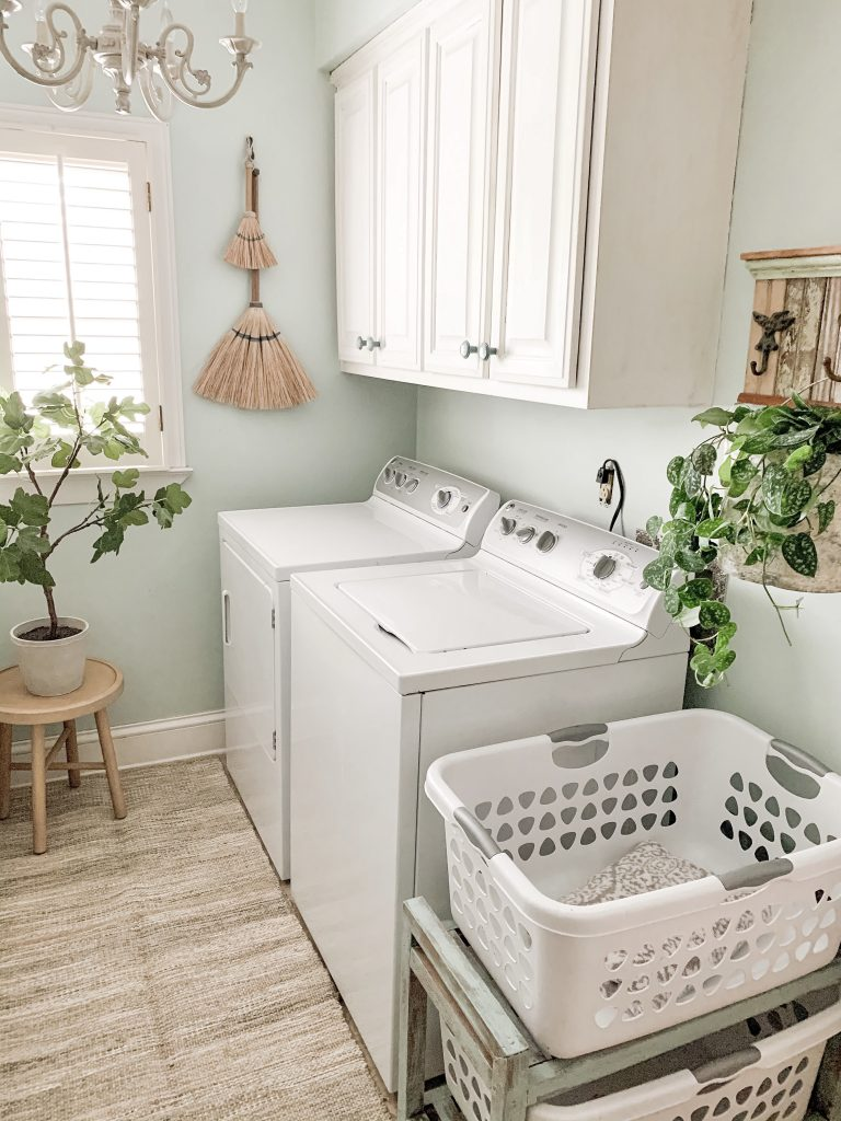 washer and drier in laundry room