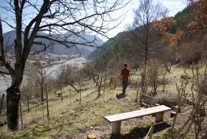 vue sur Digne depuis les terrasses du jardin