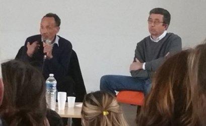 Pierre Rabhi discute avec les lycéens au Lycée d'Aix -Valabre