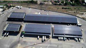 les panneaux solaires du MIN de Cavaillon