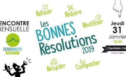 les bonnes résolutions 2019 avec Zéro Waste