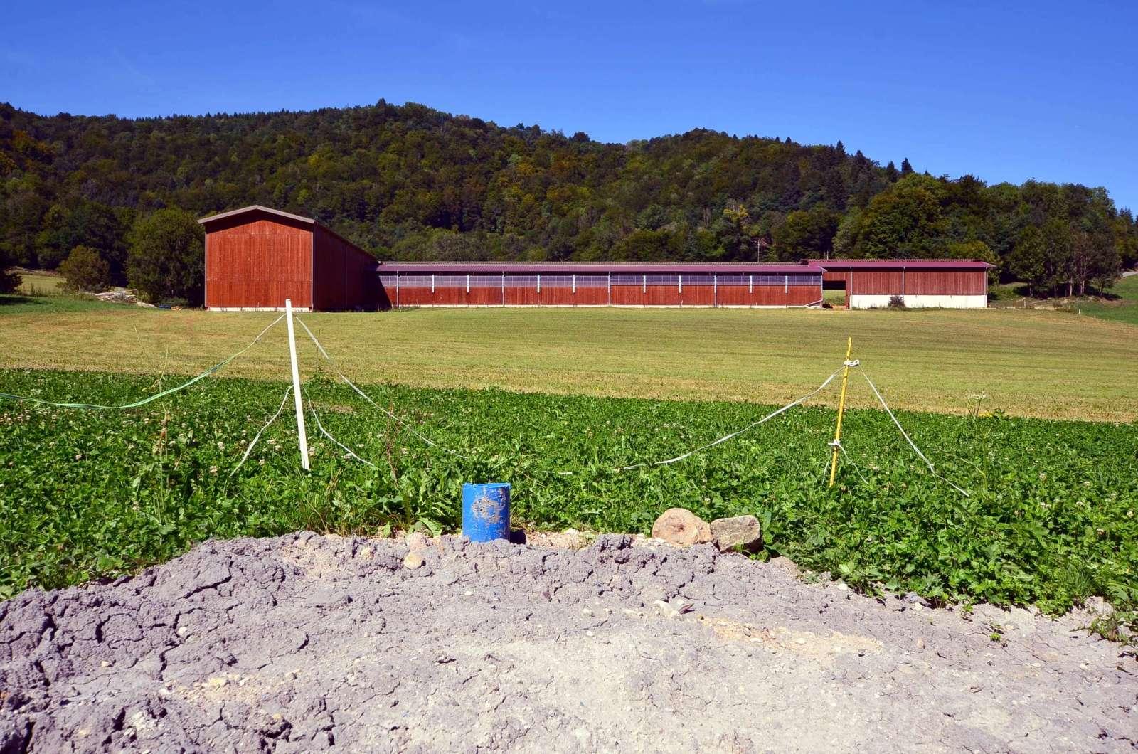 forage réalisé pour le domaine agricole dans le Doubs 25 en Franche-Comté, avec l'aimable intervention de l'expert sourcier Philippe Wojtowicz