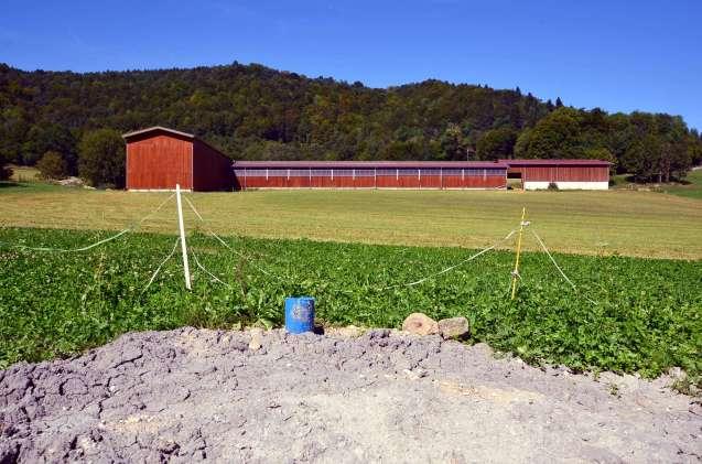 forage agricole réalisé dans la Franche-Comté