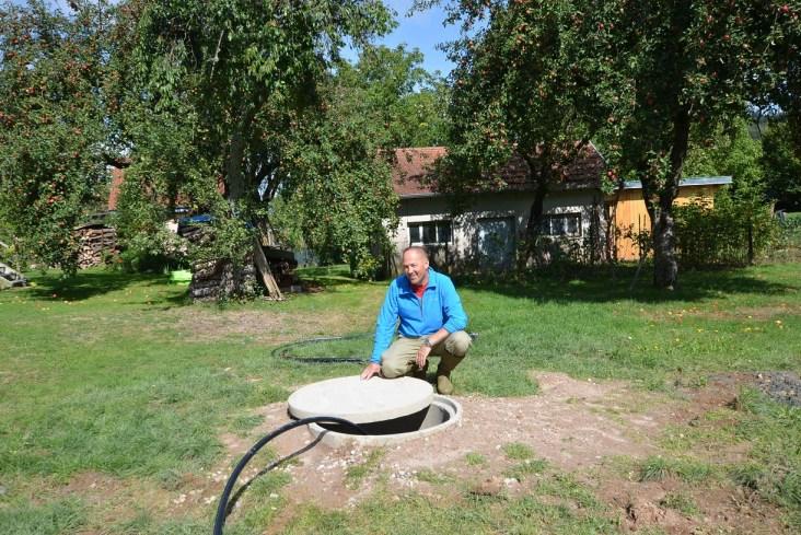 forage réalisé dans les Vosges 88 en Lorraine, avec l'aimable intervention de l'expert sourcier Vosgiens Philippe Wojtowicz