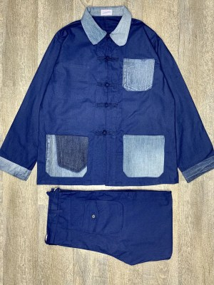 COSTUME BLEU DE CHINE BLEU DE CHINE ANTICHER x USED DENIM