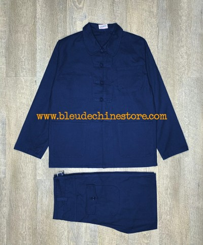COSTUME BLEU DE CHINE INDIGO ANTICHER