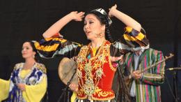 Usbekische Musikgruppe beim Nawruzfest, Berlin © Axel Porsch