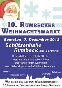 Rumbeck lädt zu seinem 10. Weihnachtsmarkt