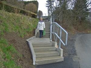 Nach Instandsetzung wiedereröffnet: Die Treppe zwischen Bogenstraße und Brandhagen. (Foto: SPD)