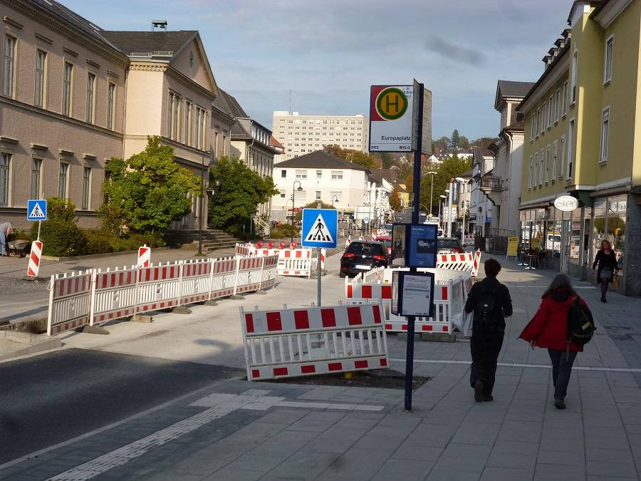 Haltestelle Europaplatz wird wieder angefahren