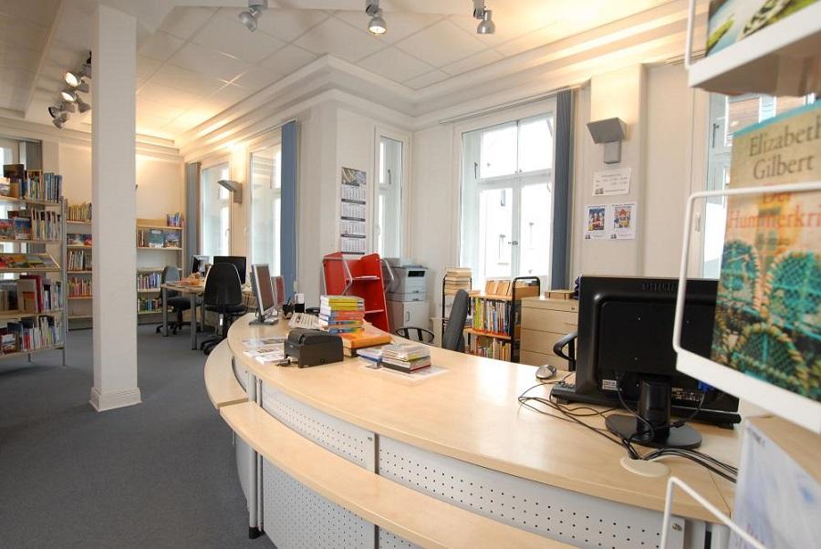 Blick in Sunderns Stadtbibliothek. (Foto: Stadtbibliothek)