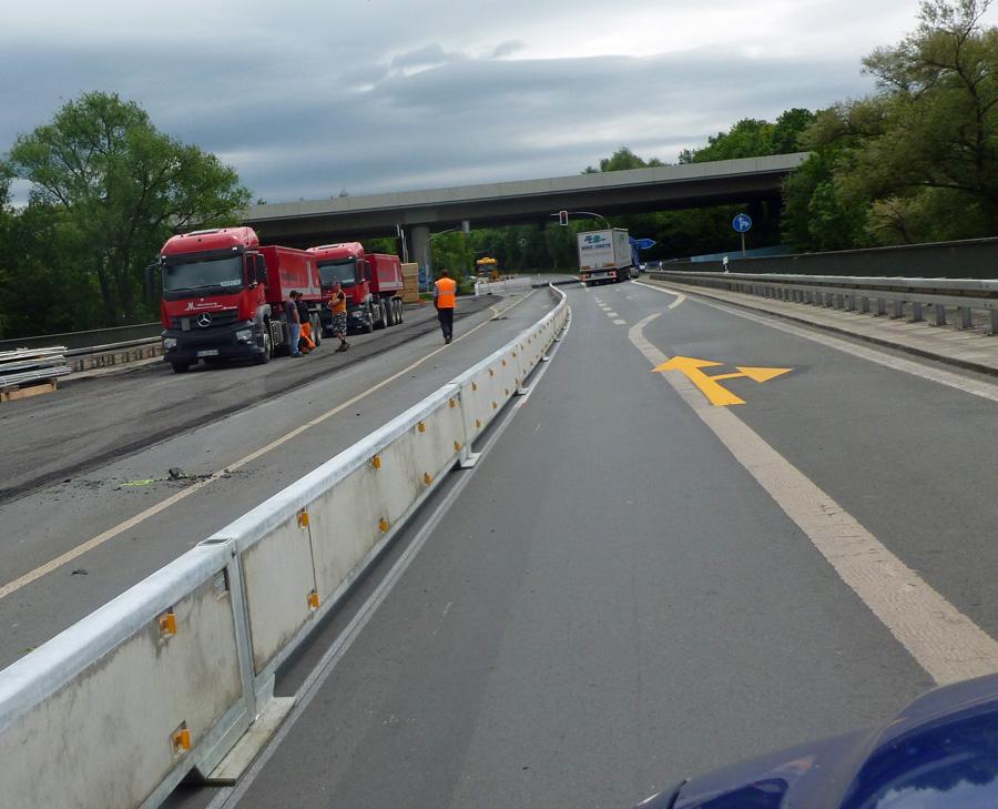 Einsatzfahrzeuge dürfen in beide Richtungen durch Ohlbrücken-Baustelle
