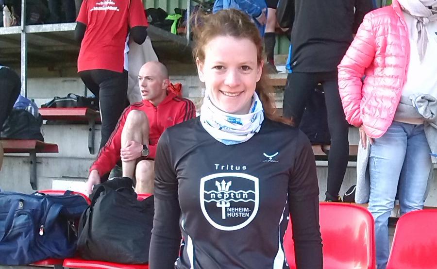 Patricia Wahl beim Halbmarathon in Hamm Sechste
