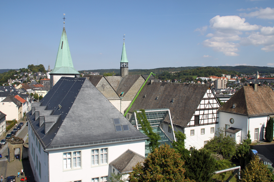 Baustellenbesichtigung im Kloster Wedinghausen