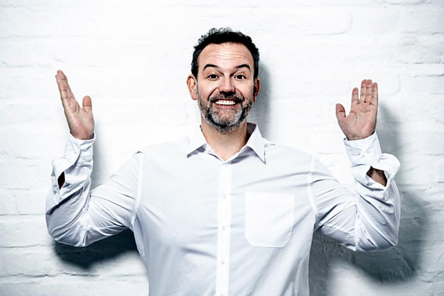 Radio-Comedian René Steinberg in der Schmiede