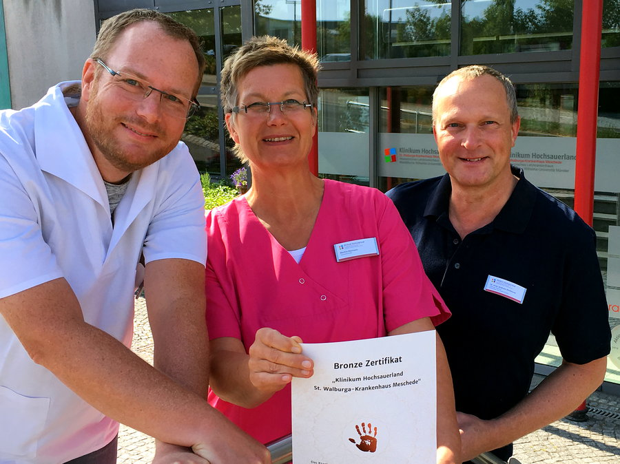 Zertifizierte Händehygiene im St. Walburga-Krankenhaus