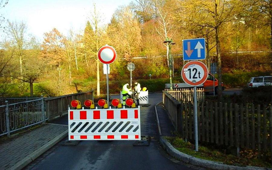 Gesperrte Röhrbrücke wird wieder freigegeben