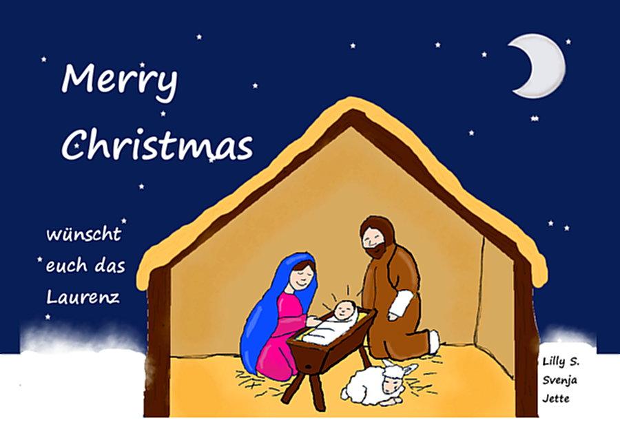 Laurentianer Fünfer gestalten Weihnachtspostkarten