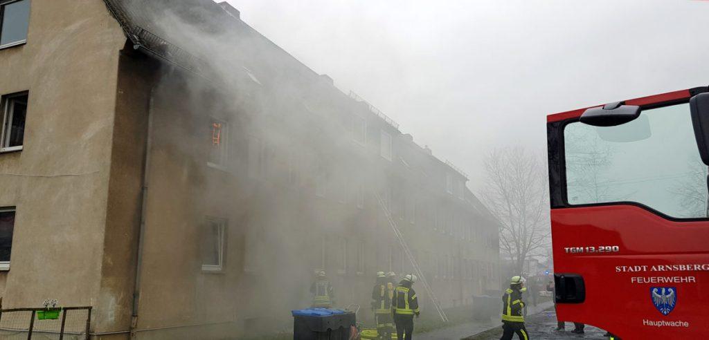 Kellerbrand: Großeinsatz für Feuerwehr an der Hammerweide