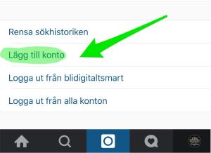 Lägg till konto Instagram