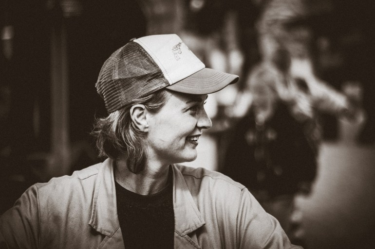 Sarah Moeremans van Moeremans & Sons tijdens het Oerol festival van 2016.