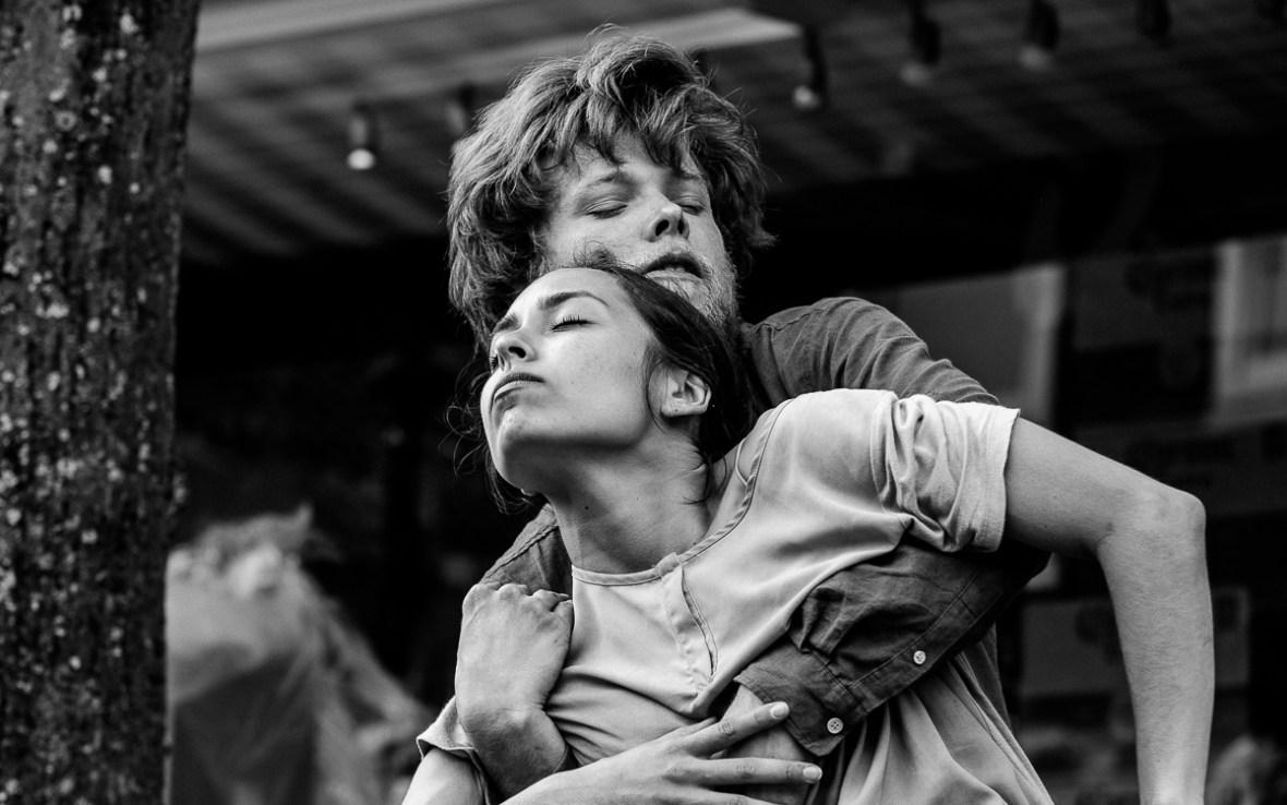Youri & Marie tijdens hun laatste voorstelling op Oerol 2018.