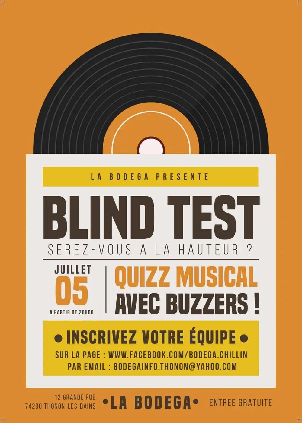 Blind test à la Bodega de Thonon-les-Bains