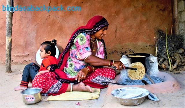 Making chapatis, Rajastan
