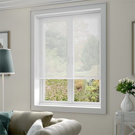 White Voile Blind  Soft Delicate and Transparent Roller
