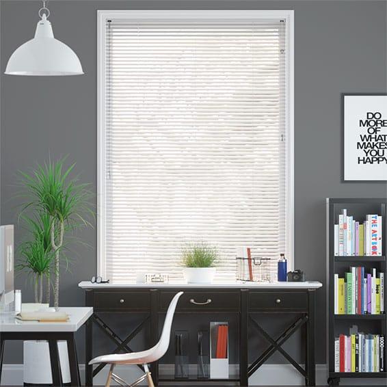 Aluminium Venetian Blinds Gloss White Aluminium Blinds 2go