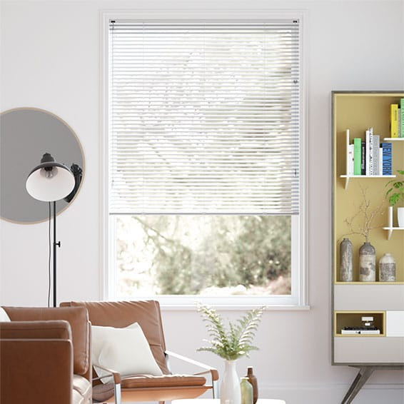 window blinds for living room green rooms walls made to measure venetian plain white shaded metal 2go