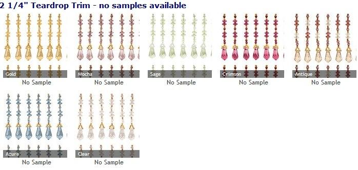 roman shades with decorative crystal trim