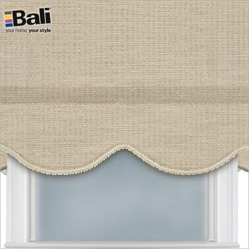 Bali room darkening roller shade with gimp trim