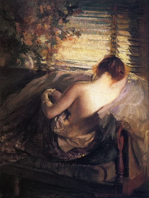 The Venetian Blind Painting- Edmund Charles Tarbell