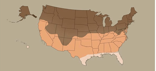 Insulating Cellular Shade Climate Map