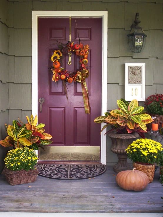 purple fall door